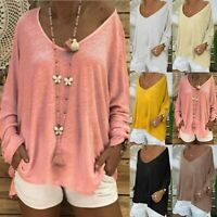 Women Casual Long Sleeve Ladies T Shirt Blouse Loose Pullover Tunic Tops Tee