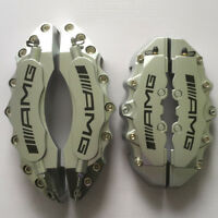 """Engineering Plastic Silver AMG Brake Caliper Covers 11""""Front 9""""Rear Benz C Class"""