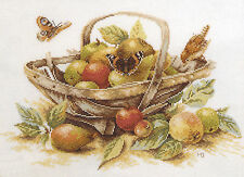 Cross Stitch Kit ~ Lanarte / Marjolein Bastin Summer Fruit Basket #34261