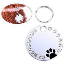 Cute Diamond Paw Dog Cat ID Name Tags Pet Jewelry Necklace cats products for pet