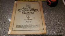 altes Buch Heft 1936 Krieger Kalender Dachbodenfund Scheunenfund