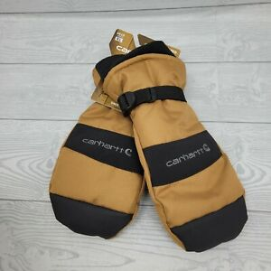 Carhartt A616 Men's W.P. Waterproof Insulated Mitt Brown Black XL NWT