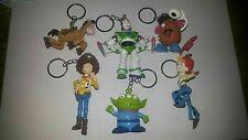 6pcs/Set Toy Story Woody Buzz Lightyear Jessie Alien PVC Keychain Keyring 5-7cm