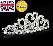 Wedding Tiara Mini Hair Comb Fashion Crown Pin Alloy Rhinestone all occasions