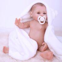 "18"" Newborn Boy Doll Full Body Silicone Reborn Baby Handmade Belly Birthday Gift"