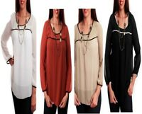 T29 Womens Chiffon Summer Evening Party Work Office Plus Size Tops Loose Blouse