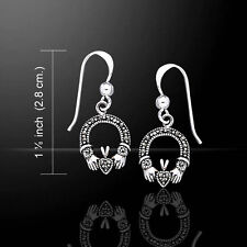 Irish Claddagh Marcasite .925 Sterling Silver Earrings by Peter Stone
