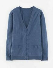 Chic Boden easy merino silk cardigan Heron blue size UK 8 10