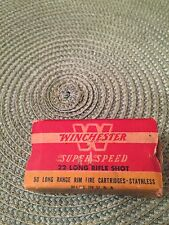 Vintage Winchester Super Speed 22 Long Rifle Shot Short Box Only