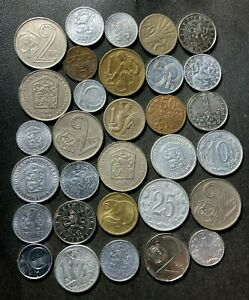 Old Czechoslovakia Coin Lot - 1924-PRESENT - 30 Great Coins - Lot #L23