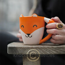 Fox Mug Coffee Drink Warm Gift Cup Beverage Holder Hot Cute Shaped Tail Handle