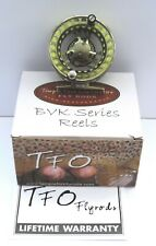 TFO BVK 1, 4/5 Weight Moss Green Fly Reel with Fly Line, Backing and Case
