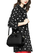 NWT Kate Spade Montrose Avenue Leather Leeland Satchel Handbag Black Bow Beau