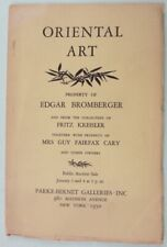 ORIENTAL ART  PARKE BERNAT JANUARY 1950 392 LOTS  JADE BRONZE SNUFF ART