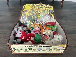 Vintage Meanie Beanie Plush Toys. Complete Series 1, 2, And Extras. HUGE LOT