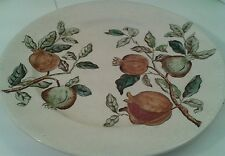 """Antique Late 19th Century Tg & F Booth Pomegranate 10.5"""" Dinner Plate  (3)"""