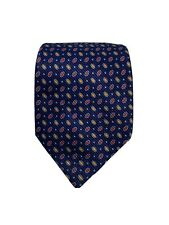 David Donahue Designer Luxury Geometric Blue Purple Silk Neck Tie Made in USA