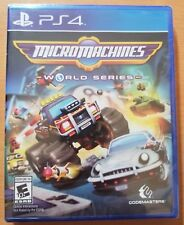 Micro Machines World Series (Sony PlayStation 4, 2017) NEW SEALED PS4