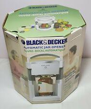 Black & Decker Lids Off Jw200 Automatic Jar Opener 2002 White New Open Box