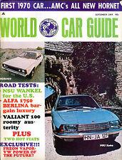 World Car Guide Magazine September 1969 NSU Ro80 EX 011116jhe2