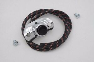 Horn Switch Button with 1 Wire Handlebar Mounted Harley Cloth Chrome Motorcycle