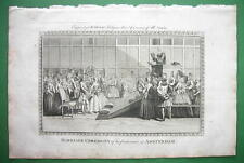 HOLLAND Marriage Ceremony at Amsterdam - 230 yrs Old Original Engraving