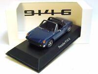 1:43 SPARK 1973 PORSCHE 914/6 blue metallic BRAND NEW PORSCHE MUSEUM PROMO !!!