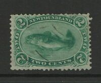 Newfoundland SC# 24a, Used, thin yellow paper - S10551