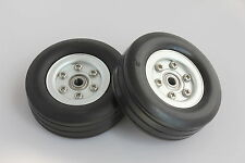 "2.0"" Aluminum Alloy Core Natural Rubber Wheels Tires for RC Model Airplane"