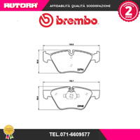 P06036-G Kit pastiglie freno a disco ant Bmw (BREMBO).