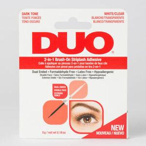 DUO 2 in 1 Brush On Striplash Adhesive Glue 5gm DARK & CLEAR strip lash eyelash