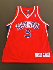 Allen Iverson Philadelphia 76ers Sixers Authentic Champion Jersey Sz 48 XL NEW