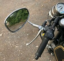 Classic Vintage Retro Cafe Racer Motorcycle Chrome Tear Mirror Pair Mirrors 10mm