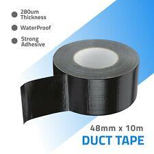Duct Tape Gaffa Gaffer Self Adhesive Repair Cloth Black WaterProof 48mm x 10m