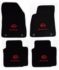 NEW! BLACK Floor Mats 2014-2017 Chevy Impala Embroidered Running Logo Red On All