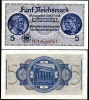 GERMANY 5 MARK ND 1940-1945 P R138 AU-UNC