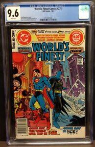 WORLD'S FINEST #275 1/82(DC) CGC 9.6 #3711321016 - BATMAN SUPERMAN