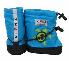 Stonz Baby Childrens Small Boots Blue Turtle Booties Winter Made in Canada