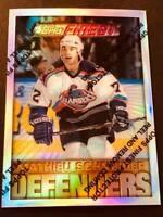 1995-96 Topps Finest Silver Refractor Mathieu Schneider Islanders #56