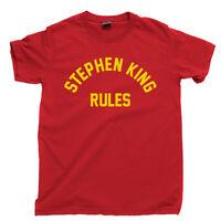 Stephen King Rules T Shirt Shining It Books Movies Monster Squad DVD Blu Ray Tee