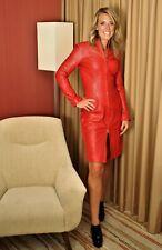 Ledermantel Lederkleid aus super weichem ECHTLEDER mit Reißverschluss für Damen