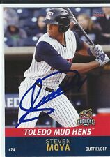 Steven Moya Signed Toledo Mud Hens 2015 Choice Card Detroit Tigers