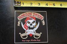 Horizon Divers Florida Keys Pirate Flag Scuba Snorkel Vintage Diving Sticker