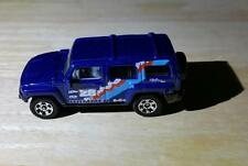 New Loose Matchbox Metal Flake Blue 2006 HUMMER H3 MB666