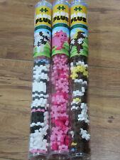 PLUS PLUS Building Blocks Toys LOT of 3 Farm Horse Pig Cow NEW Tubes Denmark ++