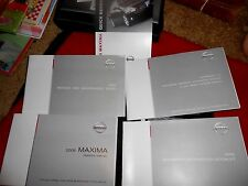 2005 Nissan Maxima Operator's Owners Manual + Case + Reference Guide +Warranty