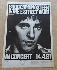 BRUCE SPRINGSTEEN & THE E STREET BAND POSTER, PRINTED BY FRITZ RAU, 20x28 INCHES
