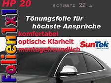26,06€/qm 76x 130cm Top Profi Auto Tönungsfolie Suntek HP 20 schwarz 2-lagig AGB