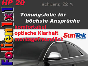 23,43€/qm 51 x 470 cm Profi Auto Tönungsfolie Suntek HP 20 schwarz 2-lagig AGB