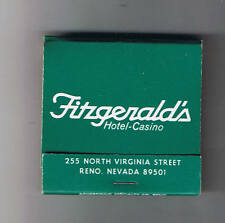 Fitzgeralds Casino Hotel Nevada Lodge Club Vintage Unused Matchbook Reno Nevada